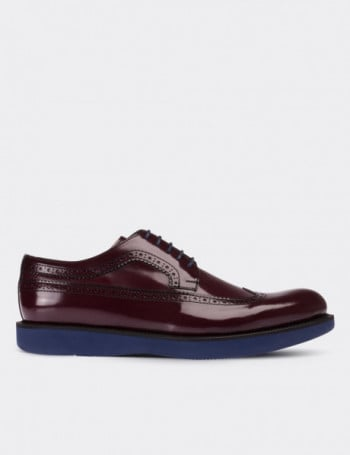Hakiki Deri Bordo Erkek Ayakkabı