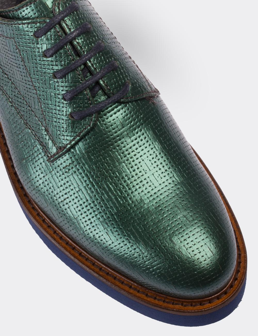 001484aa2af48 Hakiki Deri Yeşil Günlük Kadın Ayakkabı - 01430ZYSLE07