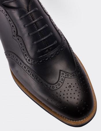 Hakiki Deri Lacivert Günlük Erkek Ayakkabı
