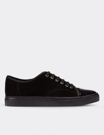 Hakiki Süet Siyah Sneaker Erkek Ayakkabı