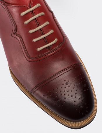 Hakiki Deri Kırmızı Günlük Erkek Ayakkabı