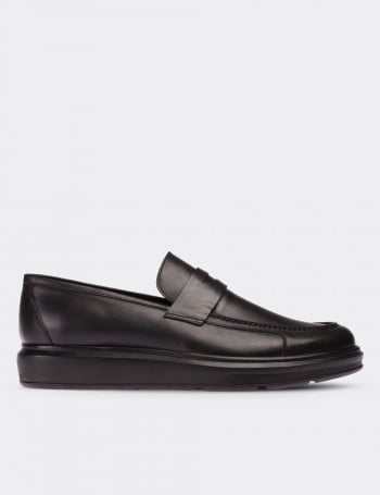 Hakiki Deri Siyah Comfort Erkek Loafer