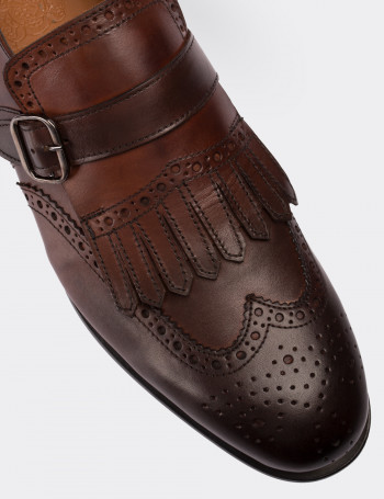 Hakiki Deri Özel Üretim Kahverengi Klasik Erkek Ayakkabı