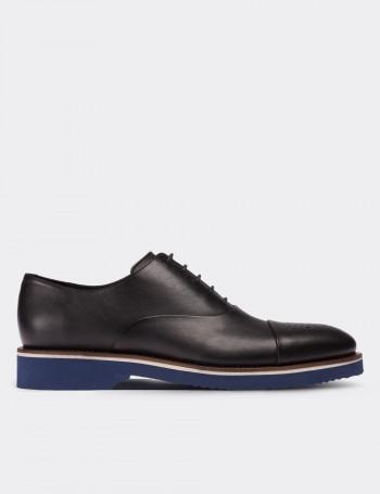 Hakiki Deri Siyah Günlük Erkek Ayakkabı