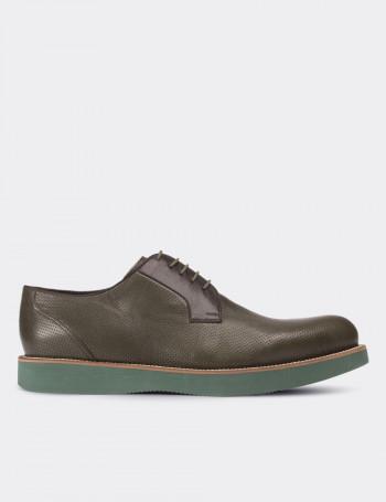 Hakiki Deri Yeşil Günlük Erkek Ayakkabı