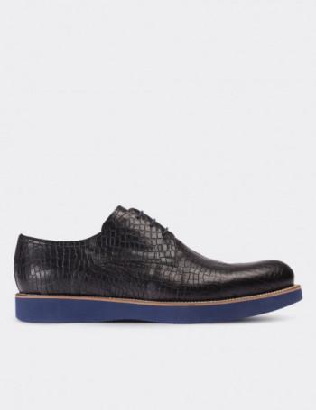 Hakiki Deri Kroko Desen Günlük Erkek Ayakkabı