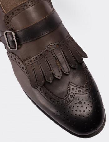Hakiki Deri Özel Üretim Vizon Rengi Klasik Erkek Ayakkabı