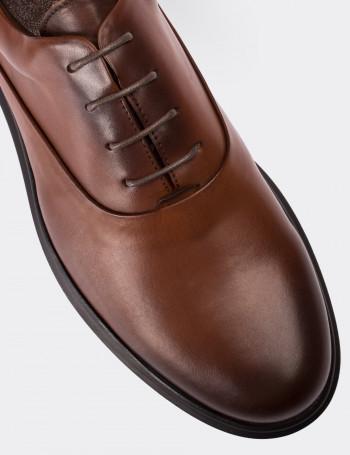 Hakiki Deri Taba Rengi Comfort Günlük Erkek Ayakkabı