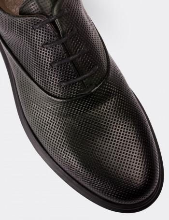 Hakiki Deri Yeşil Comfort Günlük Erkek Ayakkabı