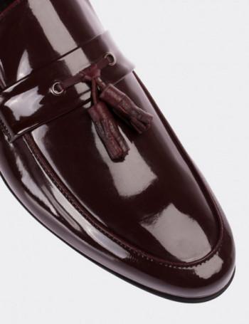 Bordo Rugan Püsküllü Erkek Loafer