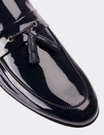 Lacivert Rugan Loafer Erkek Ayakkabı