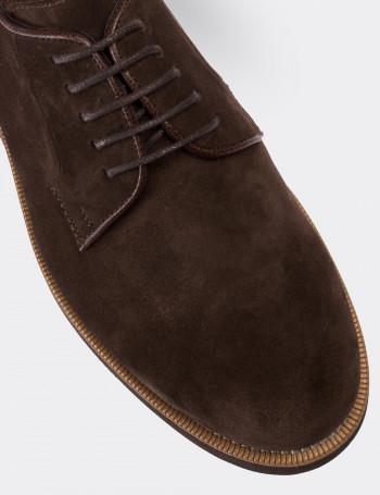 Hakiki Süet Kahverengi Günlük Erkek Ayakkabı