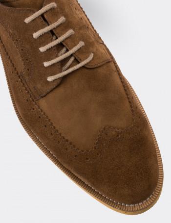 Hakiki Süet Taba Rengi Günlük Erkek Ayakkabı