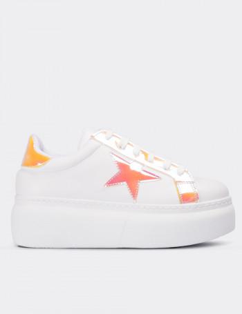 Pembe Hologramlı Kadın Sneaker Ayakkabı