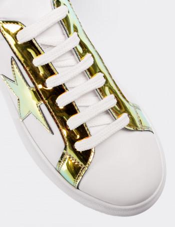 Sarı Hologramlı Sneaker Kadın Ayakkabı