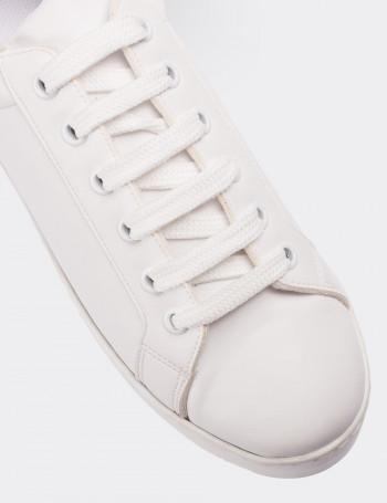 Beyaz Sneaker Kadın Ayakkabı