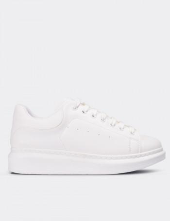 Beyaz Kadın Sneaker Ayakkabı