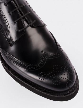 Hakiki Deri Siyah Oxford Erkek Ayakkabı
