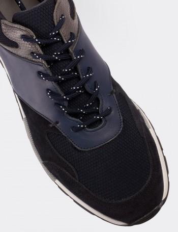 Hakiki Süet Lacivert Sneaker Erkek Ayakkabı