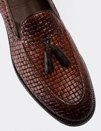 Hakiki Deri Taba Rengi Erkek Loafer