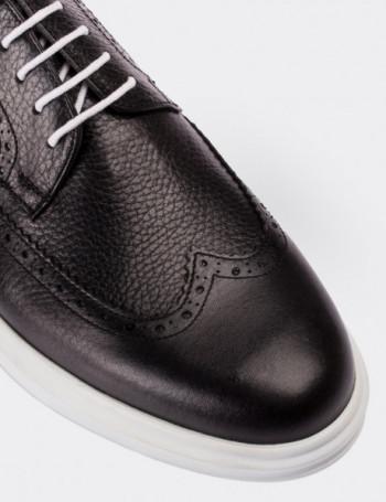 Hakiki Deri Bağcıklı Siyah Erkek Ayakkabı