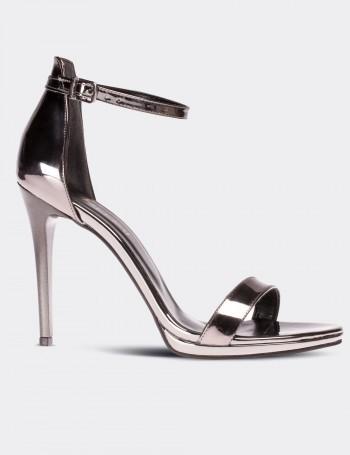 Platin Topuklu Kadın Ayakkabı