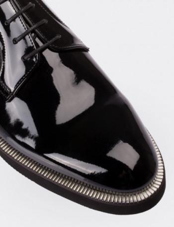 Hakiki Rugan Siyah Erkek Ayakkabı