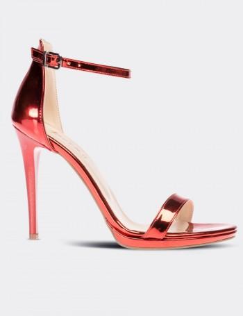 Kırmızı Topuklu Kadın Ayakkabı