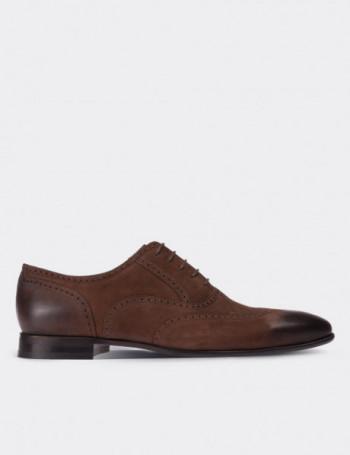 Hakiki Nubuk Finisajlı Kahverengi Klasik Erkek Ayakkabı