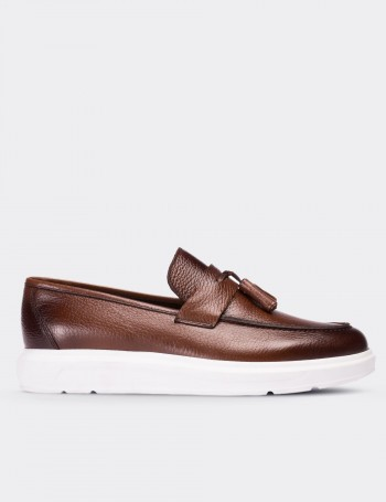 Hakiki Deri Taba Rengi Comfort Erkek Loafer