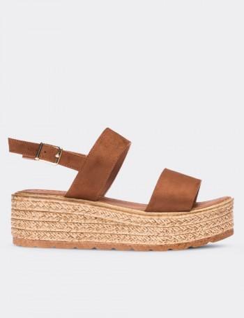 Kahverengi Kadın Sandalet