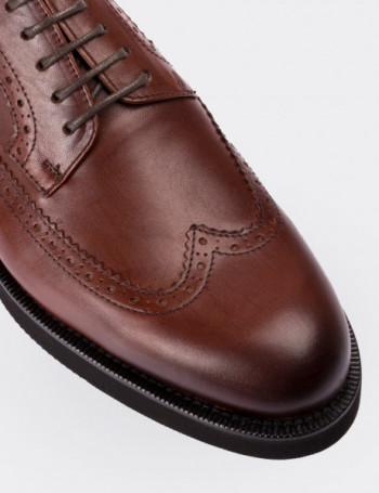 Hakiki Deri Finisajlı Taba Rengi Erkek Ayakkabı