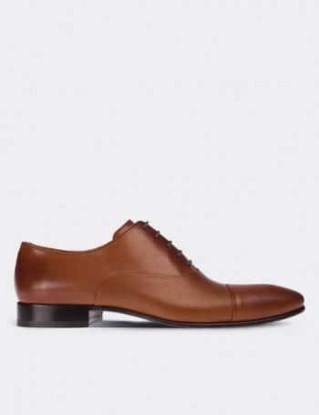 Hakiki Deri Taba Rengi Kösele Erkek Ayakkabı