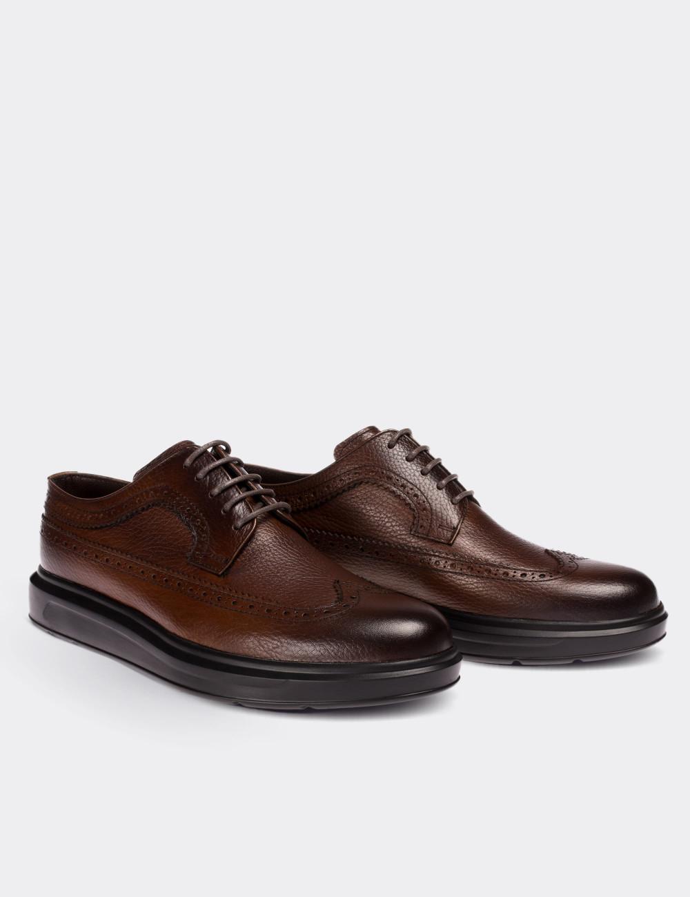 Hakiki Deri Kahverengi Comfort Günlük Erkek Ayakkabı - 01293MKHVP01