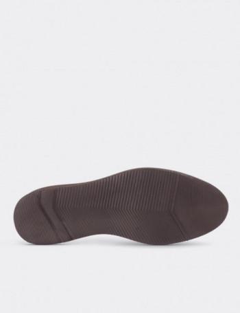 Hakiki Nubuk Bej Rengi Kadın Ayakkabı