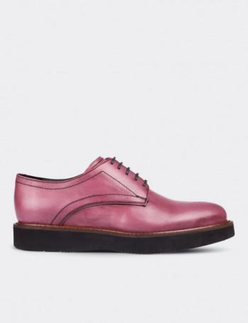 Hakiki Deri Pembe Kadın Ayakkabı