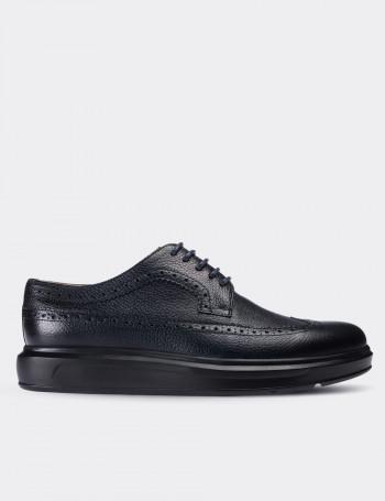 Hakiki Deri Lacivert Comfort Günlük Erkek Ayakkabı