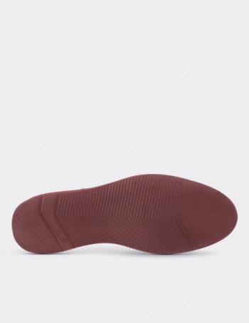 Hakiki Nubuk Çift Tokalı Kırmızı Kadın Ayakkabı