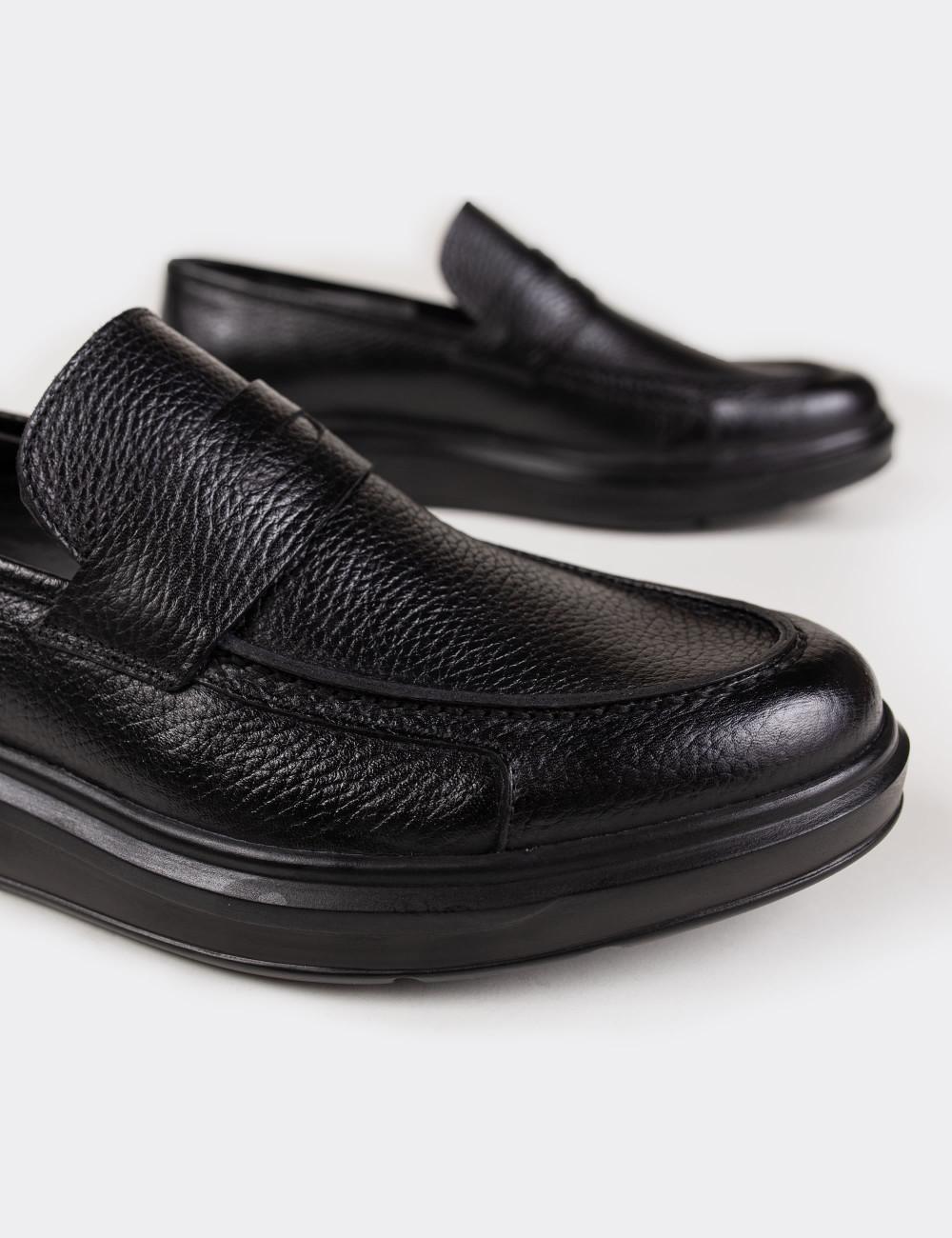 Hakiki Deri Siyah Comfort Loafer Erkek Ayakkabı - 01564MSYHP05