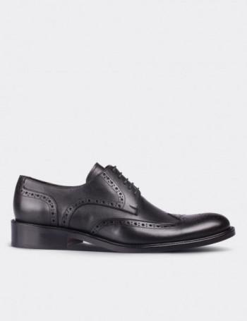 Hakiki Deri Klasik Siyah Oxford Erkek Ayakkabı