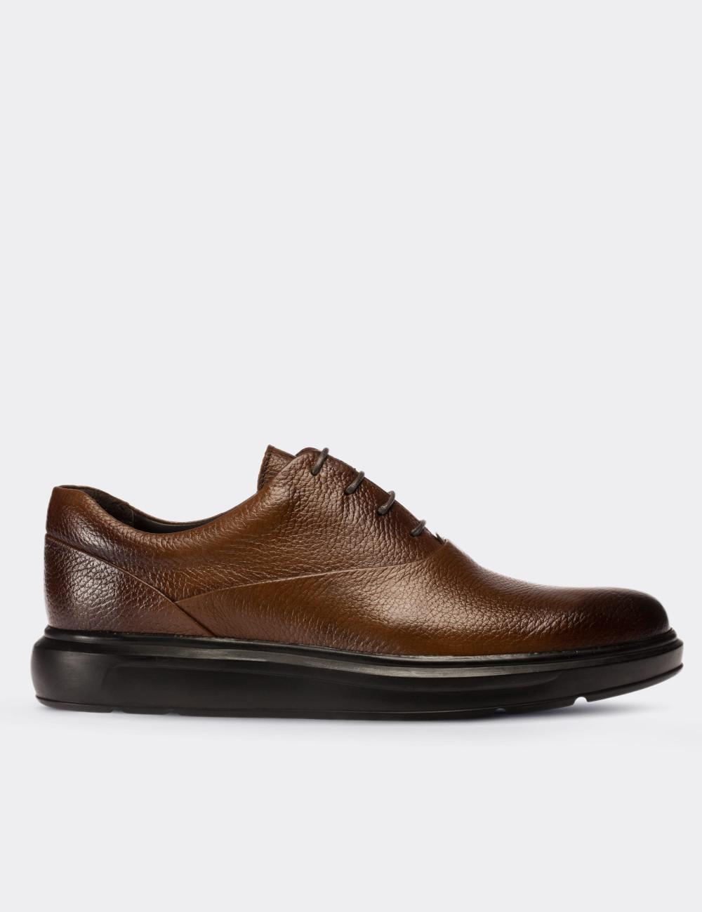 Hakiki Deri Taba Rengi Comfort Günlük Erkek Ayakkabı - 01652MTBAP05