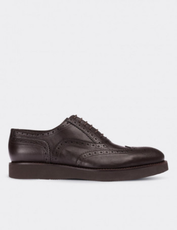 Hakiki Deri Oxford Kahverengi Erkek Ayakkabı