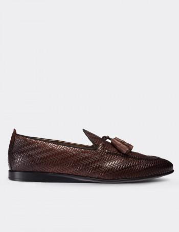 Hakiki Deri Kahverengi Erkek Loafer