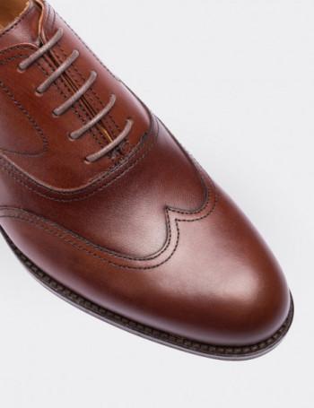 Hakiki Deri Kahverengi Kösele Erkek Ayakkabı