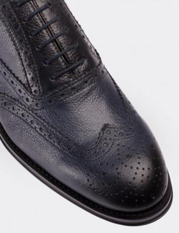Hakiki Deri Oxford Lacivert Erkek Ayakkabı