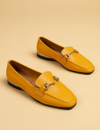 Sarı Kadın Loafer